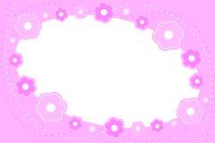 Marco floral rosado Imágenes de archivo libres de regalías