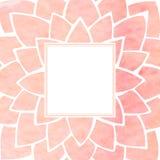 Marco floral rosado de la acuarela Ilustración del vector Fotos de archivo libres de regalías