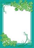 Marco floral verde con el centro blanco Fotografía de archivo