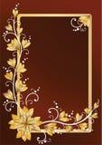 Marco floral vertical para el texto. Brown Imagen de archivo