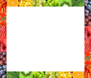 Marco fresco de las frutas y verduras Foto de archivo