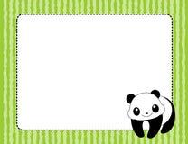 Marco/frontera de la panda Fotografía de archivo