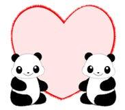 Marco/frontera de la panda Imagen de archivo
