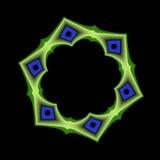 Marco geométrico azul y verde Foto de archivo