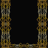 Marco geométrico del art déco Fotografía de archivo libre de regalías