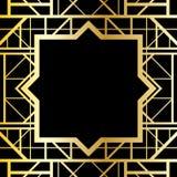 Marco geométrico del art déco Foto de archivo libre de regalías