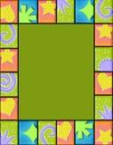 Marco geométrico del azulejo Foto de archivo