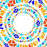 Marco geométrico del círculo del vitral del triángulo del mosaico colorido de la forma, vector ilustración del vector