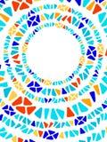 Marco geométrico del círculo del vitral del triángulo del mosaico colorido de la forma, vector stock de ilustración