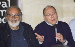 Marco giusti and director carlo verdone Stock Images
