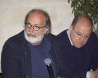 Marco giusti rozmowy, Carlo verdone interviewd Obraz Stock