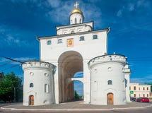 Marco - Golden Gate em Vladimir, Rússia imagem de stock royalty free