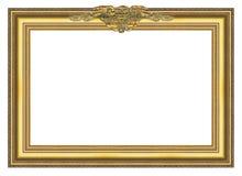 Marco grande 004 del oro viejo Imagenes de archivo
