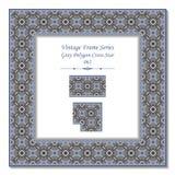 Marco 062 Grey Polygon Cross Star del vintage 3D Foto de archivo libre de regalías