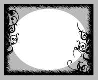Marco gris negro Fotografía de archivo libre de regalías