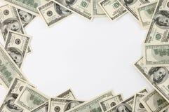 Marco hecho de cuentas de dólar Foto de archivo