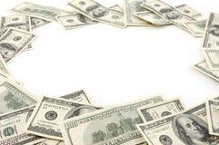 Marco hecho de cuentas de dólar Fotos de archivo