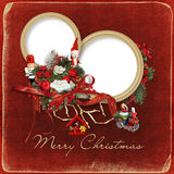 Marco hermoso de la Navidad Fotografía de archivo libre de regalías