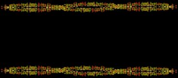 Marco hermoso de las hojas de otoño en fondo negro Imagen de archivo libre de regalías