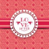 Marco hermoso para la celebración feliz del día de tarjetas del día de San Valentín Foto de archivo