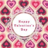 Marco hermoso para la celebración feliz del día de tarjetas del día de San Valentín Fotografía de archivo