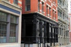 Marco histórico do restaurante famoso de Feu do Au do potenciômetro, providência, Rhode Island, queda, 2013 Foto de Stock Royalty Free