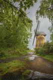 Marco histórico Inglaterra do moinho de vento de Bidston fotografia de stock royalty free