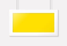 Marco horizontal del cartel Diseño del modelo del vector Imágenes de archivo libres de regalías