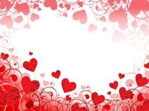 Marco horizontal del corazón Imagenes de archivo