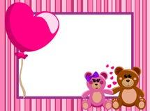 Marco horizontal Teddy Bears del amor Foto de archivo libre de regalías