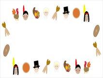 Marco ilustrado acción de gracias Foto de archivo libre de regalías