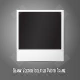 Marco inmediato de la foto del vector en blanco, sticked a Imágenes de archivo libres de regalías