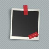 Marco inmediato en blanco vertical realista retro de la foto con la sombra e Imagenes de archivo