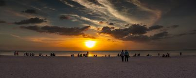 Marco Island South Beach Sunset Foto de archivo