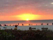 Marco Island Sunset Royalty-vrije Stock Afbeeldingen