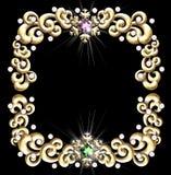 Marco Jeweled del invierno ilustración del vector