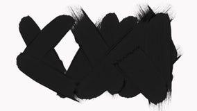 Marco - la transición abstracta de los movimientos de la brocha revela con Alpha Channel almacen de metraje de vídeo