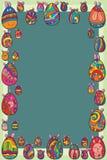 Marco lindo de Pascua del huevo Imagen de archivo libre de regalías