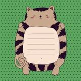 Marco lindo del gato Imagenes de archivo