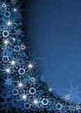 Marco mágico azul de la Navidad Fotografía de archivo