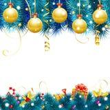 Marco mágico azul de la Navidad Foto de archivo libre de regalías