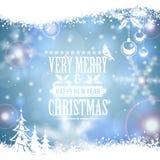 Marco mágico azul de la Navidad Imágenes de archivo libres de regalías