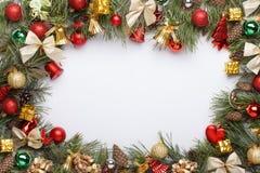 Marco mágico azul de la Navidad Fotos de archivo libres de regalías