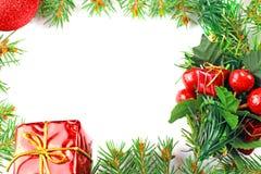 Marco mágico azul de la Navidad Imagen de archivo