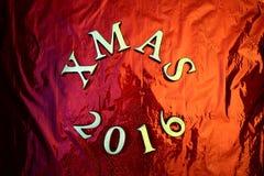 Marco mágico azul de la Navidad Imagen de archivo libre de regalías