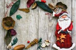 Marco mágico azul de la Navidad Imagenes de archivo