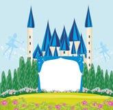 Marco mágico de princesa Castle del cuento de hadas Imagen de archivo libre de regalías