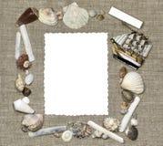 Marco marino con la tarjeta del aislante Fotos de archivo libres de regalías