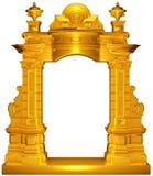 Marco medieval del oro stock de ilustración