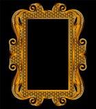 Marco medieval del vector del bordado de Goldwork imagen de archivo libre de regalías